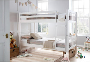 Europa Barcelona White Wooden Bunk Bed