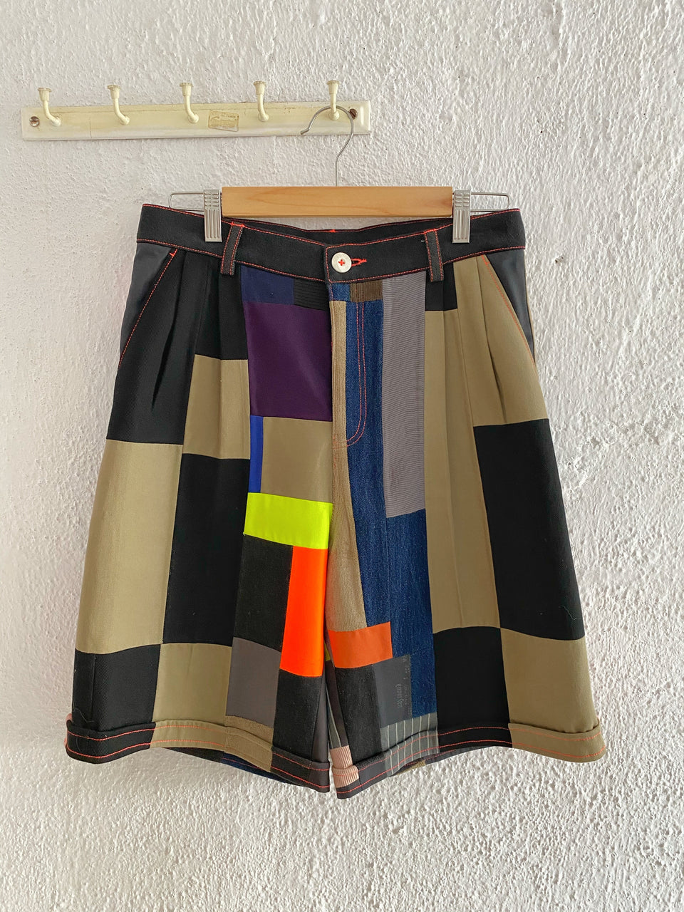 ULTRA PATCHWORK SHORTS^ ONE OF ONE