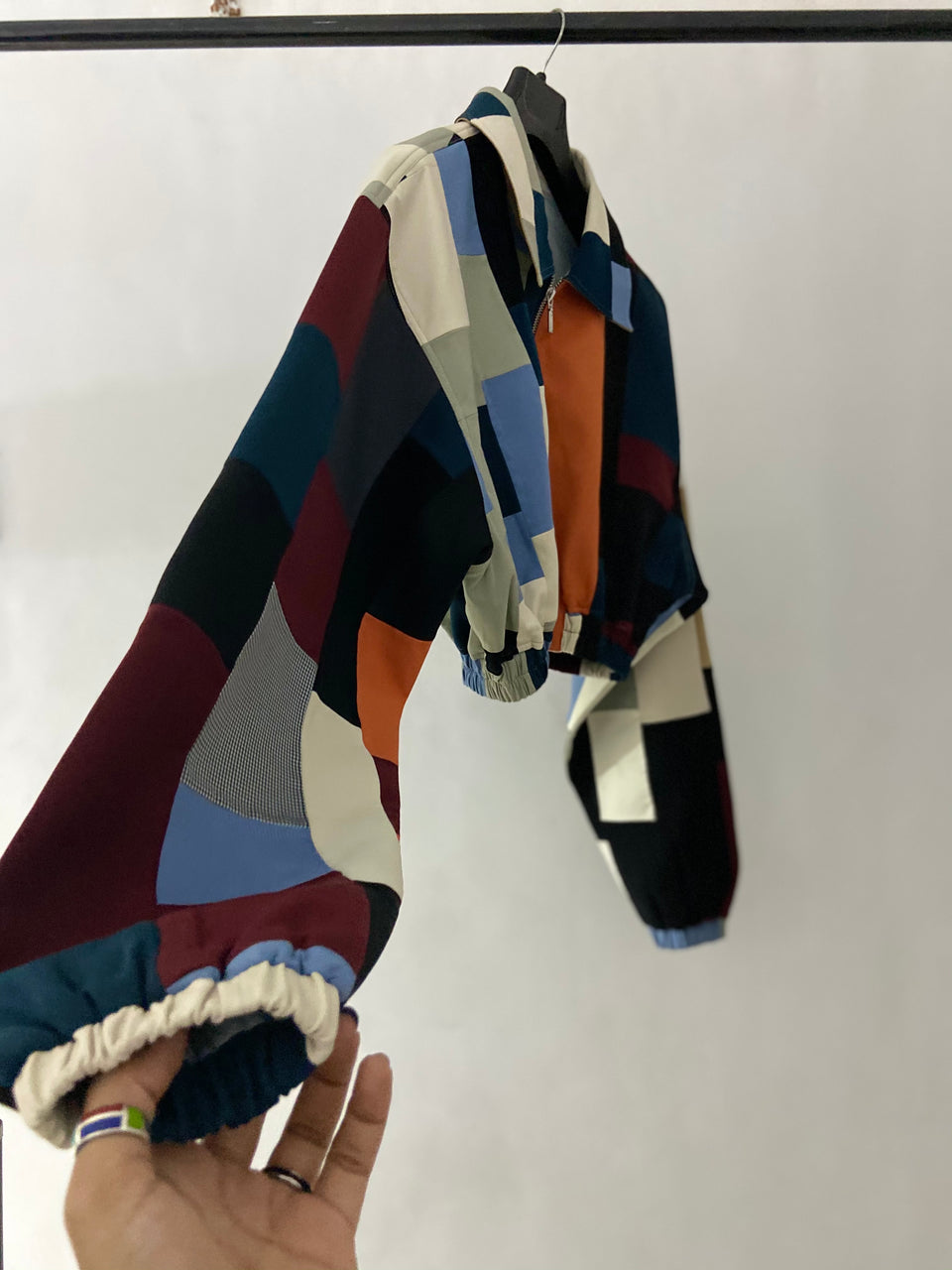 CROPPED PATCHWORK JACKET^ ONE OF ONE