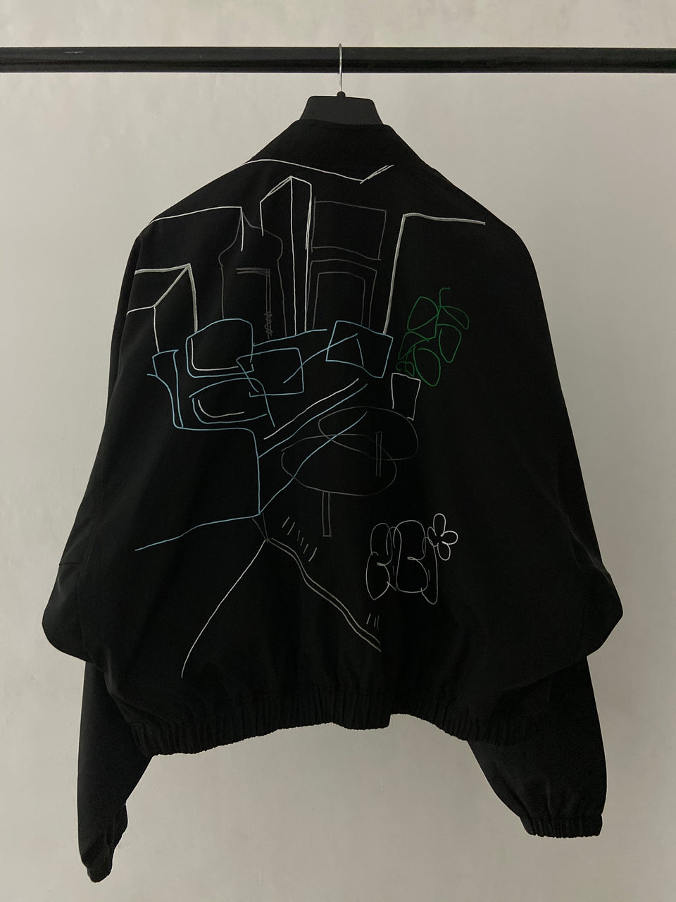 BLACK RETRIEVER BOMBER JACKET [UNISEX]