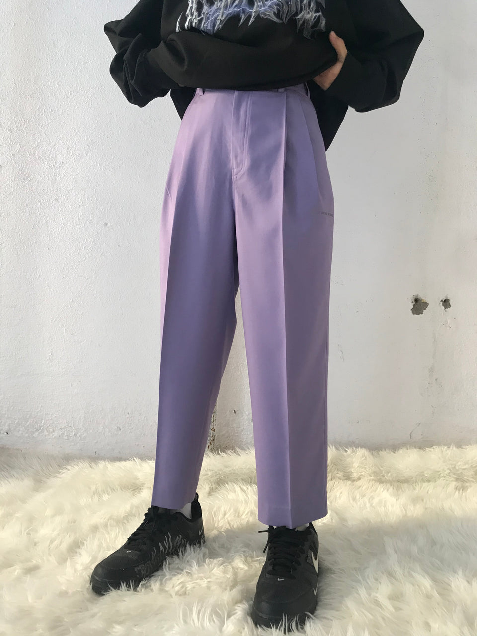 IRIS PLEATED PANTS [UNISEX]