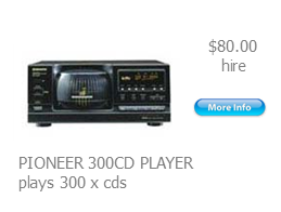 hire 300cd player