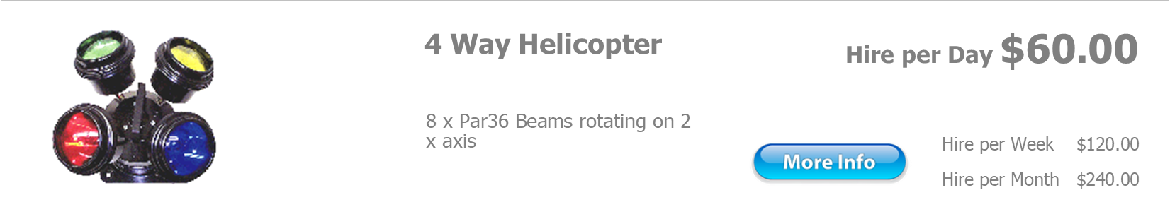 hire 4 way helicopter