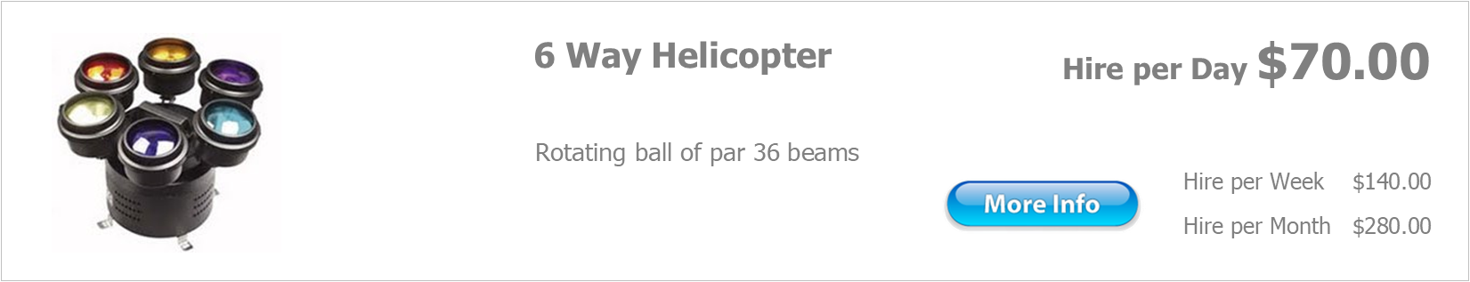 hire 6 way helicopter