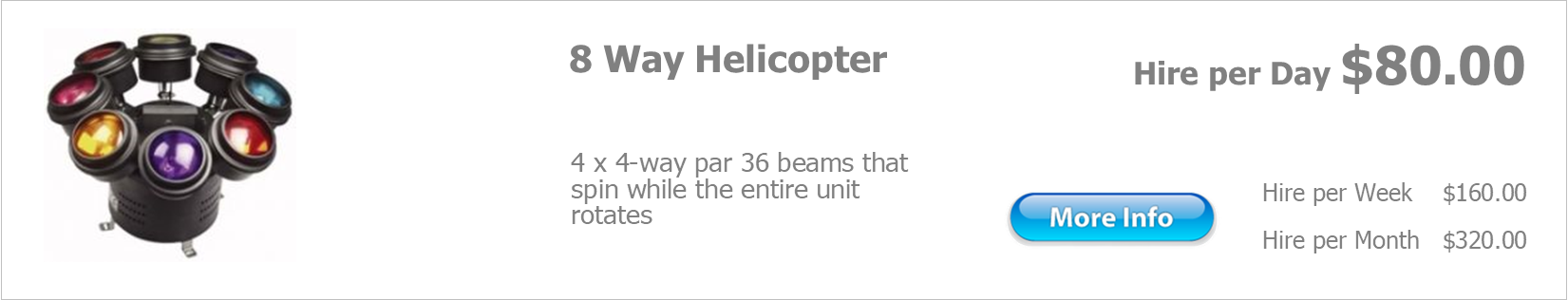 hire 8 way helicopter