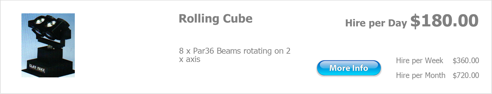 hire rolling cube