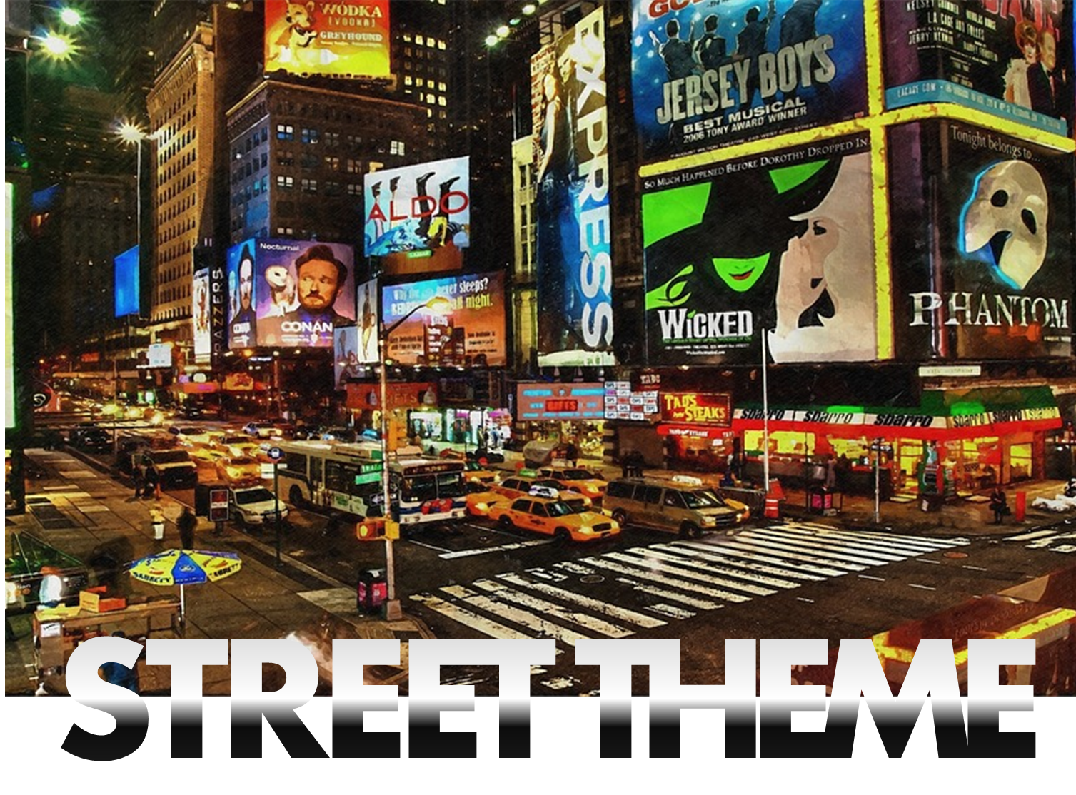 street theme props hire