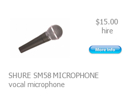 hire shure sm58 microphone