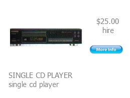 hire cd player