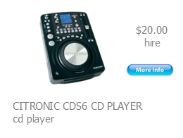 hire citronic cd player
