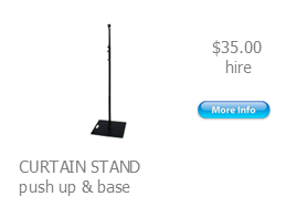 hire curtain stand