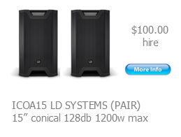 hire speakers ld systems icoa15