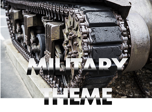 military theme props hire rental