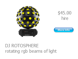 hire rotosphere light effect