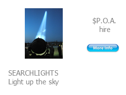 hire searchlights