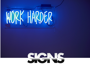 signs hire rental