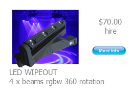 hire wipeout light effect