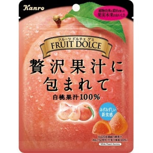 Kanro Fruit Dolce White Peach Candy 58g - KonveniGomart