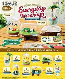 Re-ment Pokemon  Candy Toy Snoopy & Woodstock Everyday Terrarium Collection (6 kinds in a set) - KonveniGomart