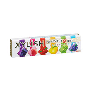 MEIJI  XYLISH 6 Fruits Assort Chewing Gum 12pcs - KonveniGomart