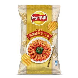 LAY'S Deep Ridged Potato Chips (Salted Shrimp Flavor) 40g