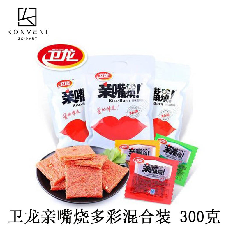 WEI-LONG Kiss Strips Bean Curd  (Colorful Flavor) 300g - KonveniGomart