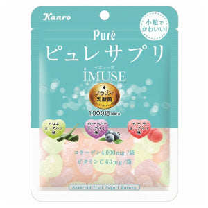 KANRO Pure Assorted Fruit Yogurt Gummy 59g - KonveniGomart