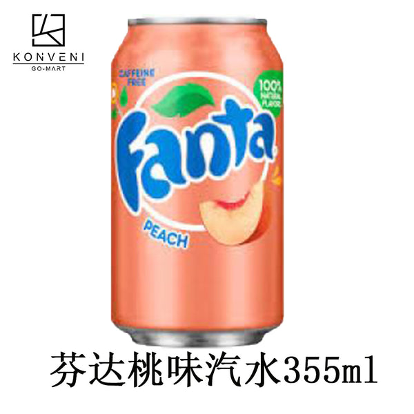 Fanta Peach Soda 355ml - KonveniGomart