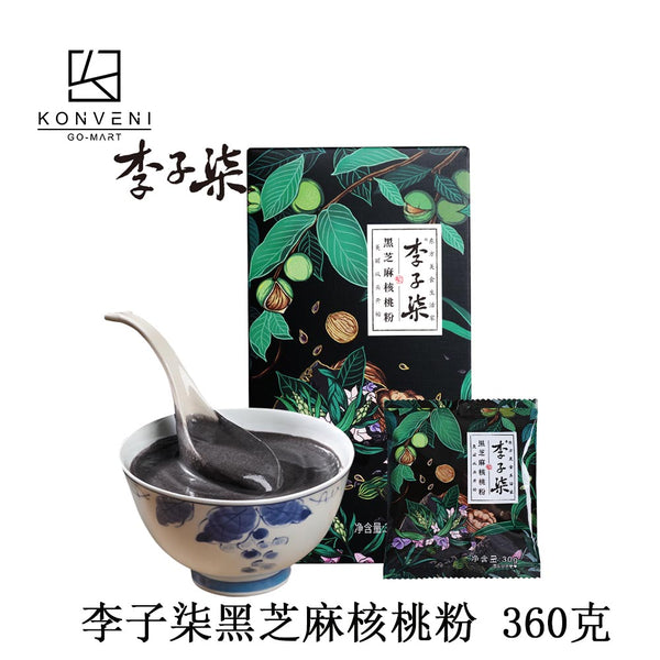 LIZIQI Black Sesame Walnut Powder 360g - KonveniGomart