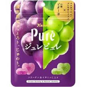 KANRO Pure Grape Gummy & Muscat Gummy 63g - KonveniGomart