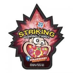 Striking Popping Candy (Strawberry Flavor) 30g - KonveniGomart