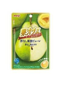 Meiji Fruit Juice Gummy Pear Puree 47g - KonveniGomart
