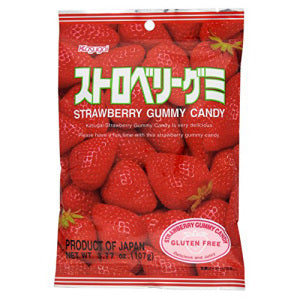 Kasugai Strawberry Gummy Candy 107g - KonveniGomart