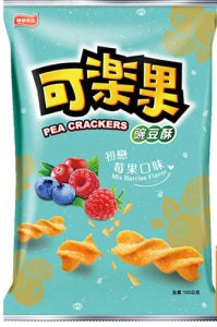 Lianhwa Pea Crackers (Mix berries flavor) 72g - KonveniGomart