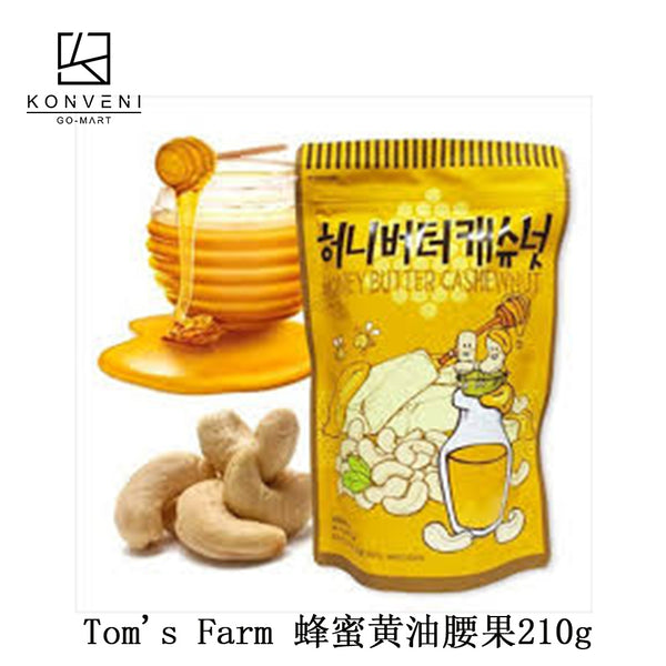 Tom's Farm Honey Butter Cashewnut 210g