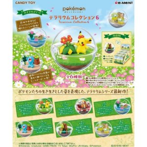 Re-ment Pokemon Candy Toy Terrarium 6 Collection (6 kinds in a set) - KonveniGomart