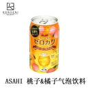 ASAHI Sparkling Water (Peach & Orange Flavor) 350ml - KonveniGomart