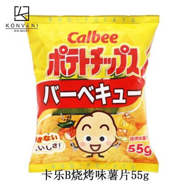 Calbee BBQ Potato Chips 55g