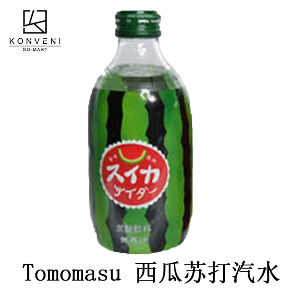 Beverage Tomomasu Carbonated Suika Soda Juice 300ml - KonveniGomart