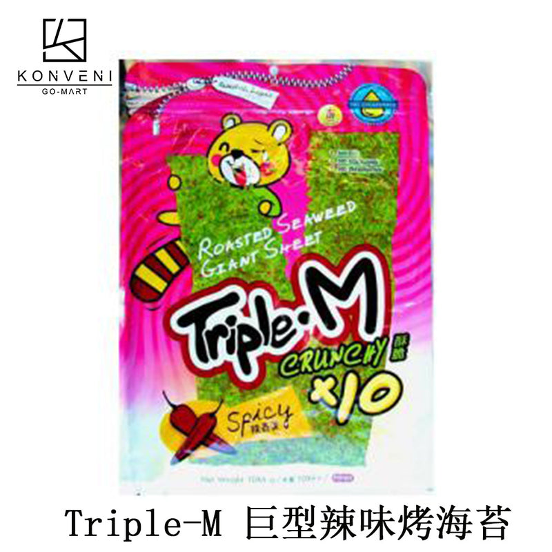 Triple M Giant Sheet Spicy Roasted Seaweed (Bag) - KonveniGomart