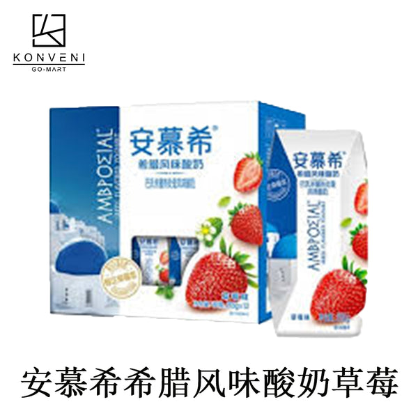 AMBPOEIAL Greek Yogurt (Strawberry Flavor )  205ml*12 - KonveniGomart