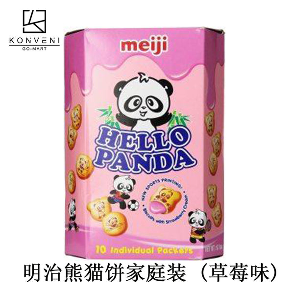 Meiji Hello Panda Family Pack (Strawberry Flavor) 258g - KonveniGomart