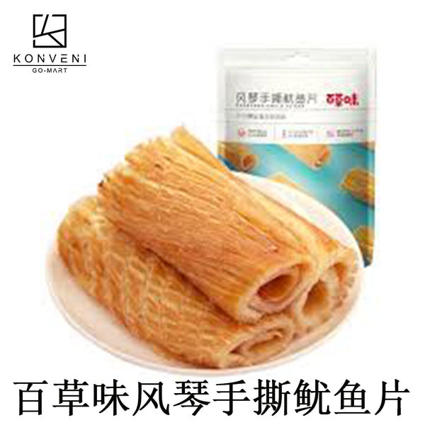 BAICAOWEI Shredded Squid Slices (Grilled Flavor) 80g - KonveniGomart