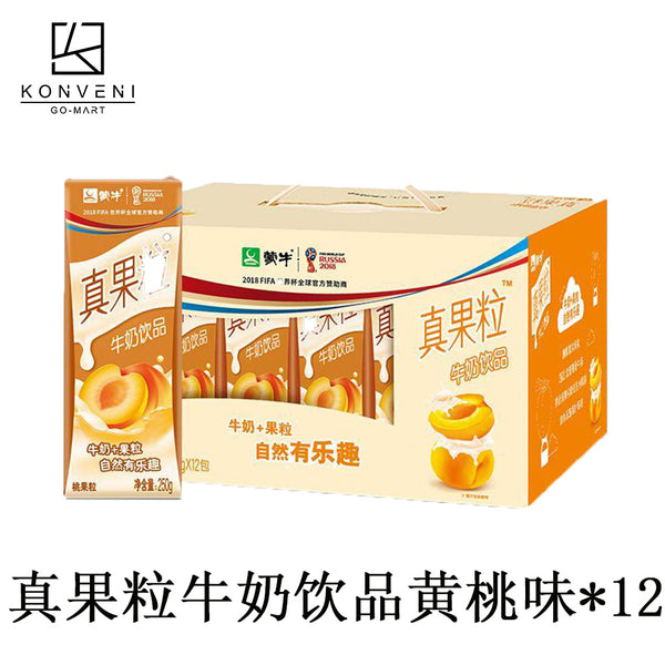 Mengniu Fruit Milk Drink (Peach Flavor) 250ml*12 - KonveniGomart