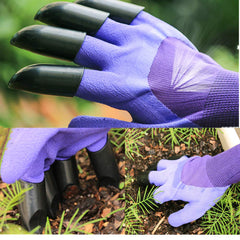 Garden Digging Gloves with Claws, 2 Pairs