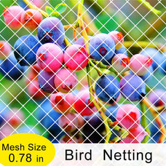 Commercial Bird Netting,10ft/25ft W