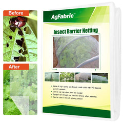 2pack, White Garden Insect Netting Screen