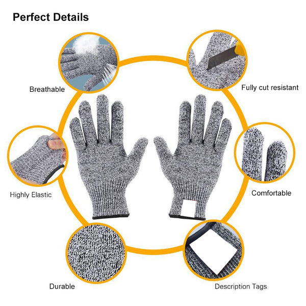 Cut Resistant Working Gloves for Garden 2 Pairs L size