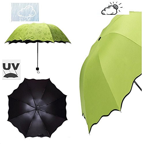 Rain Sunshade Umbrella  8RibsxD35.8inch Apple Green