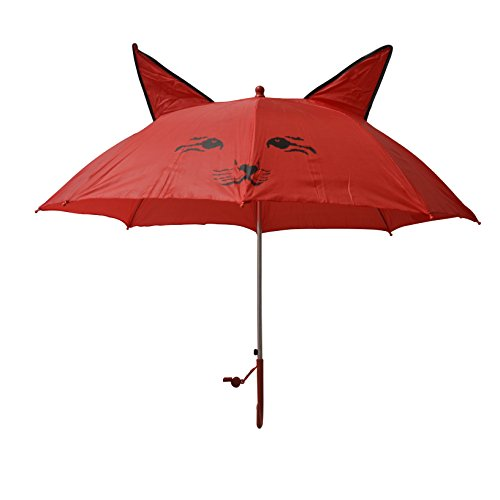 Children Cat cartoon umbrella red